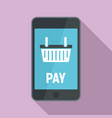 online smartphone pay icon flat style vector image vector image
