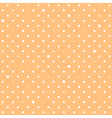 Orange Cream Star Polka Dots Background vector image vector image