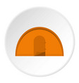 orange tourist tent icon circle vector image vector image