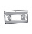 outline vhs cassette video tape record system vector image vector image