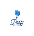 party event logo designs inspiration isolated on vector image