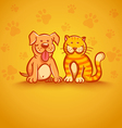 pets yellow vector image vector image