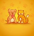 pets yellow vector image