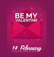 poster valentines day flat pink envelope on pink vector image