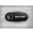 Restart button vector image