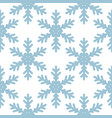seamless pattern with snowflakes on white vector image vector image