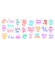 set of 25 hand lettering inscription to valentines vector image vector image