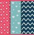 set of paper decoration love romantic pattern vector image vector image