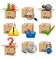 Shipment Icons Set 8 vector image vector image