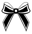 silhouette of a bow vector image
