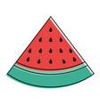 slice watermelon fruit fresh icon vector image
