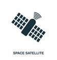 space satellite icon flat style icon design ui vector image vector image