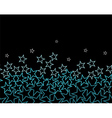 stars over black background vector image vector image