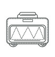 suitcase or valise bag on wheels traveling vector image