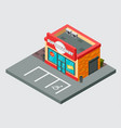 supermarket isometric building isolated vector image vector image