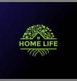 tree house cabin chalet real estate logo design vector image vector image