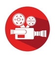 video camera cinema icon vector image vector image