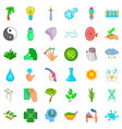 windmill icons set cartoon style vector image vector image