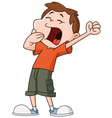 yawn kid vector image