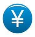 yen symbol icon blue vector image vector image