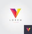 letter V colorful design element vector image