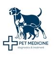 Pet clinic logo vector image