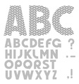 Simple Alphabet vector image