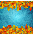 abstract background autumn leaves on grunge vector image vector image