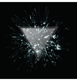 Abstract black and white explosion vector image vector image