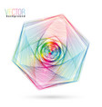 abstract colorful wireframe vector image vector image