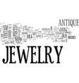 antique jewelry wholesale text word cloud concept vector image vector image