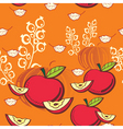 apple and pumpkin vector image