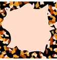 Autumn abstract frame vector image