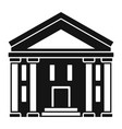 bank courthouse icon simple style vector image vector image