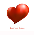 banner with a red heart on a white background vector image vector image