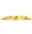 berlin germany skyline silhouette with golden vector image vector image
