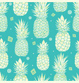 blue green pineapples summer tropical vector image vector image