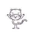 blurred silhouette caricature of cute tigger vector image vector image