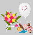 bouquet ballon candy vector image vector image