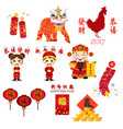 chinese new year icons and cliparts vector image vector image