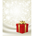 Christmas present background vector image