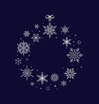 christmas snowflake wreath and new year vector image