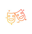 cinema miscellaneous play theater icon vector image