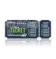 cinema ticket sample template design trendy vector image vector image