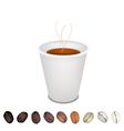 Coffee Mug and beans vector image vector image