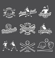 collection of baseball logo and insignias vector image