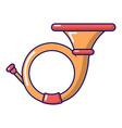 cornet icon cartoon style vector image