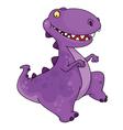 dancing dinosaur vector image vector image