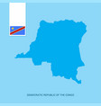 democratic republic of the congo country map with vector image