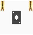 Diamonds card icon vector image